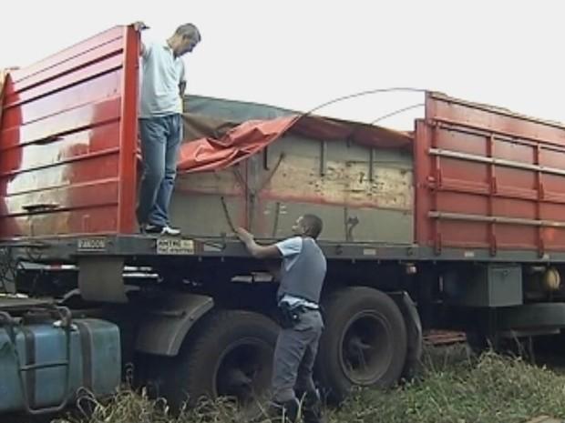 Polícia apreende maconha em fundo falso de caminhão em rodovia