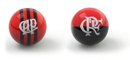 Confronto Bolinhas Guia da Rodada - Atlético-PR x Flamengo (Foto: Editoria de Arte)