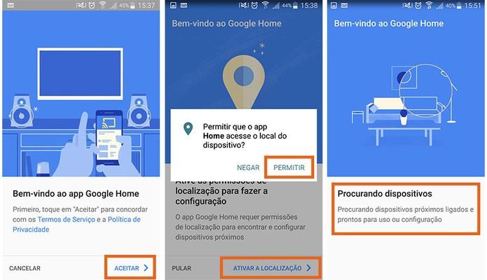 Inicie as configurações do Google Home no celular (Foto: Reprodução/Barbara Mannara)