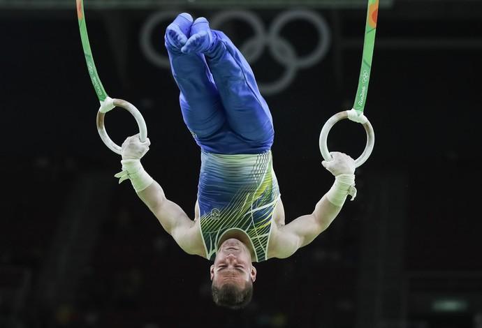 Arthur Zanetti na classificatória das argolas Rio 2016 Olimpíada (Foto: Ricardo Bufolin - CBG)