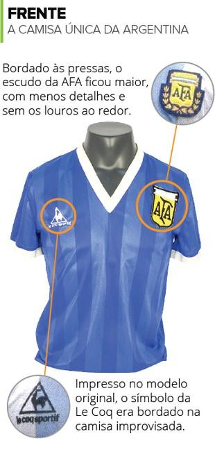 INFO Camisa única Argentina Frente (Foto: Infoesporte)
