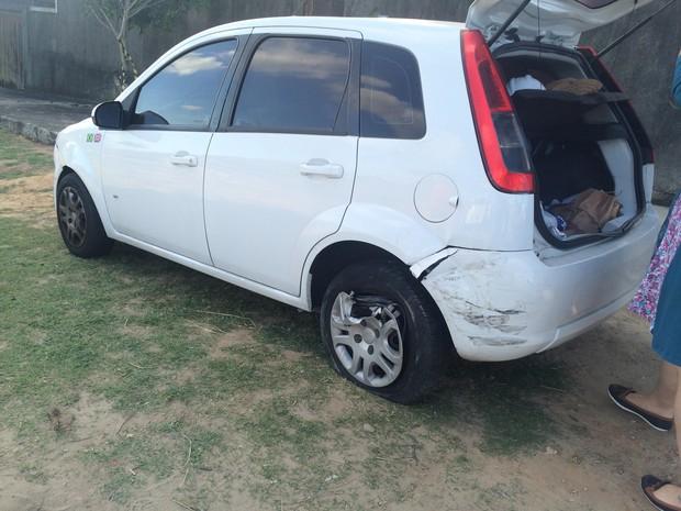 Fiesta também se envolveu no acidente (Foto: Carolina Sanches/G1)