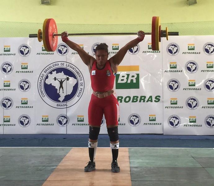 Jaqueline Ferreira brasileiro levantamento de peso (Foto: Divulgação/CBLP)
