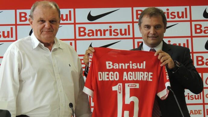 Vitorio Piffero Diego Aguirre Inter (Foto: Tomás Hammes / GloboEsporte.com)