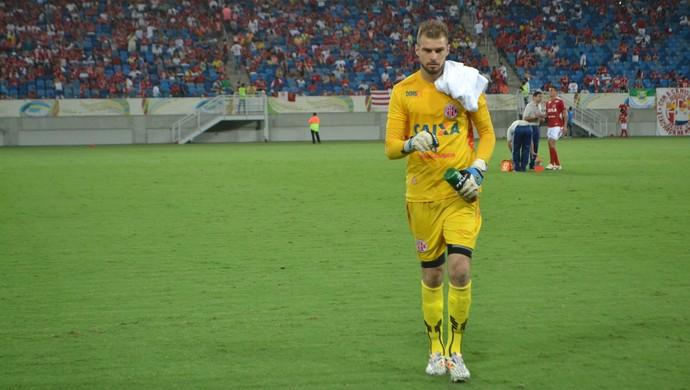 Busatto - goleiro do América-RN (Foto: Jocaff Souza/GloboEsporte.com)