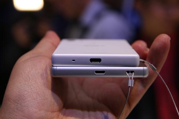 Sony Xperia Z5 e Xperia Z5 Compact são apresentados durante a IFA 2015  (Foto: Fabrício Vitorino/TechTudo)