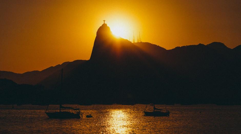 Rio de Janeiro, rio, pôr do sol, cristo redentor (Foto: Reprodução/Pexel)