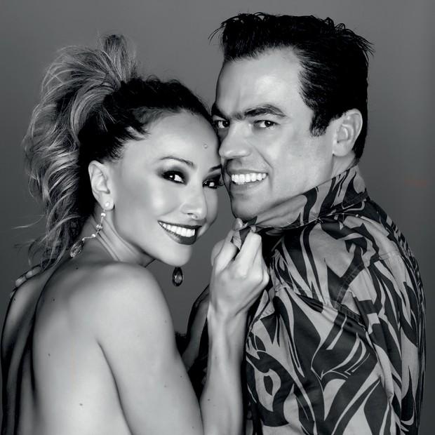 Marco Antônio com Sabrina Sato, uma das suas várias clientes famosas (Foto: Deco Cury e Divulgação)