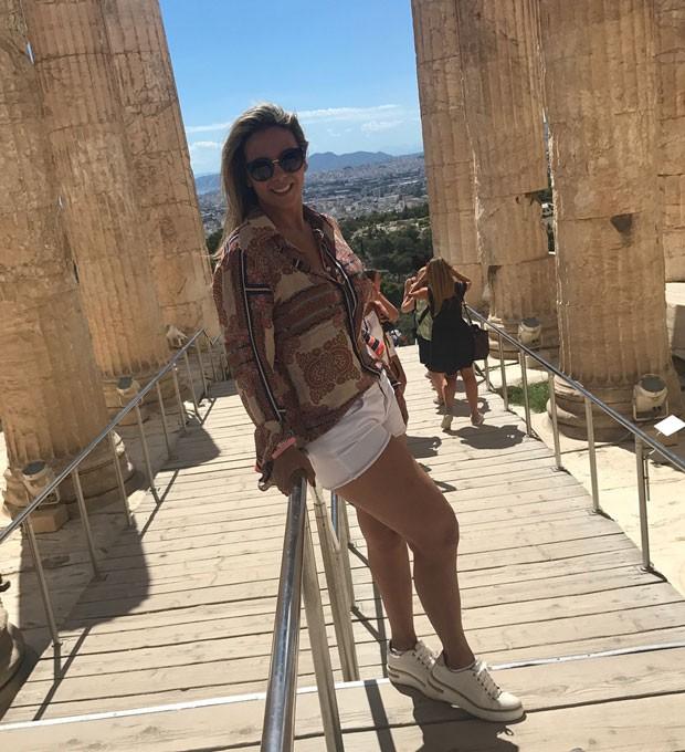 Carla: visita aos pontos turísticos de Atenas (Foto: Reprodução Instagram)