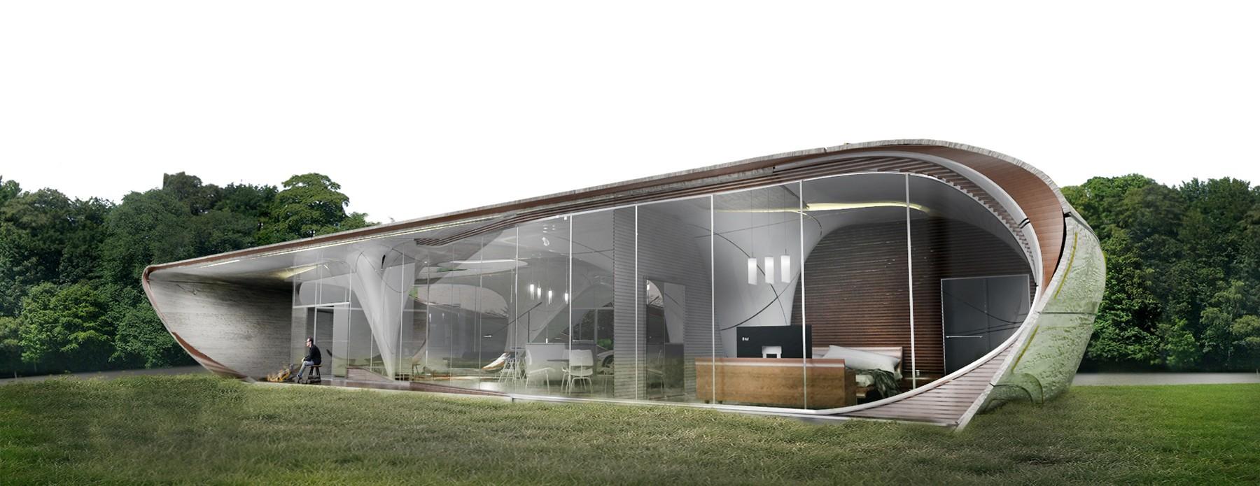 Casa elaborada pela WATG: a primeira do mundo na impressão 3D em formas livres (Foto: Divulgação)
