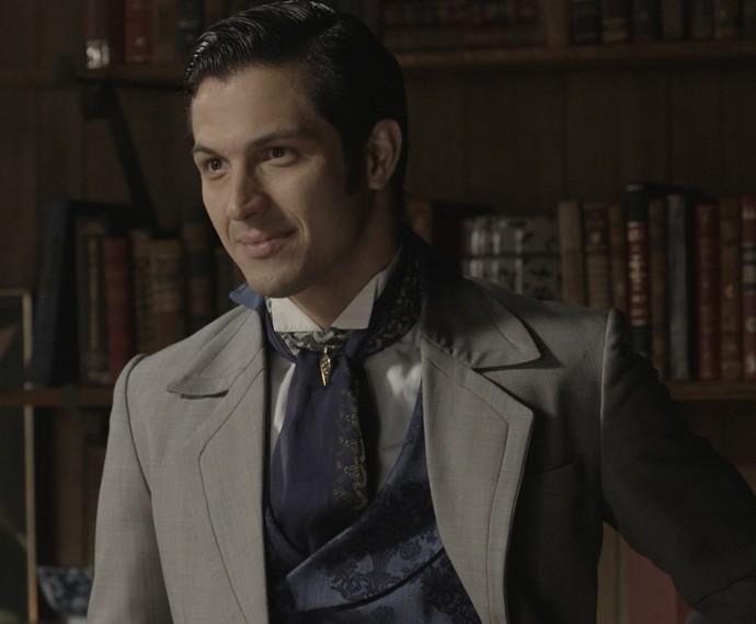 Roberto pede permissão a Massimo para se casar com Bianca (Foto: TV Globo)