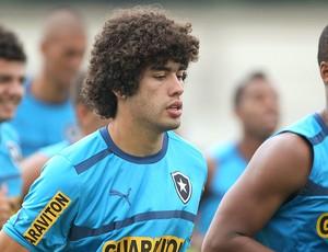 Revelação do Botafogo, Bruno Mendes se destacou também pela 'cabeleira' cheia (Foto: Ivo Gonzalez / Agencia O Globo)