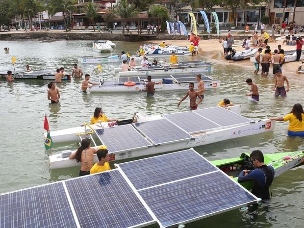 Desafio Solar Brasil contou com a participação de alunos do ensino médio (Foto: Marco Antônio Teixeira/Divulgação)