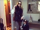 Carol Celico posa com a filha Isabella para foto tirada por Kaká