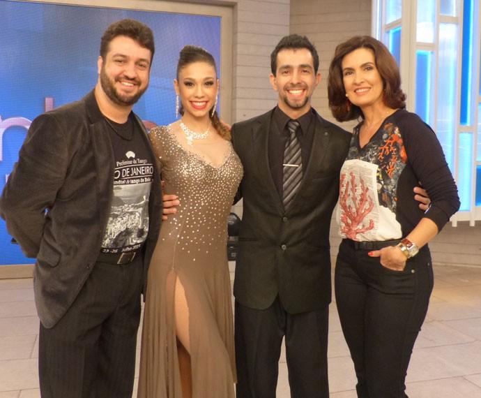Mais uma foto nos bastidores do programa (Foto: Viviane Figueiredo Neto/ Gshow)