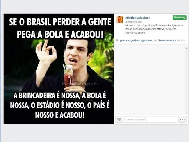 Felix, personagem da novela 'Amor à Vida' é usado em piada na web.  (Foto: Reprodução/Instagram)