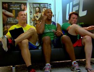 Marcos Pezão, Wanderlei Silva, Chael Sonnen (Foto: Reprodução/TV Globo)