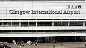 Avião estava se preparando para pousar no aeroporto de Glasgow (Foto: BBC)