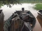 PF apreende embarcações usadas por contrabandistas em Itaipulândia
