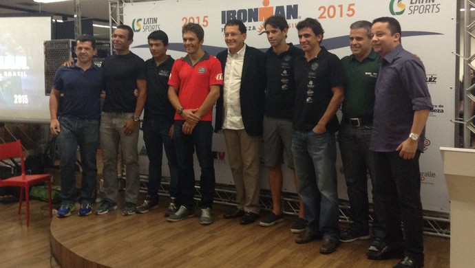 Ironman, Fortaleza, triatletas, lançamento (Foto: Thaís Jorge)
