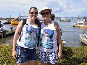 Tia e sobrinha Iemanjá Salvador Bahia (Foto: Elias Dantas/Ag. Haack)