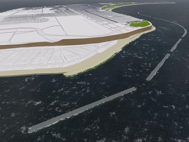 Projeto de contenção da erosão da falésia do Cabo Branco foi apresentado nesta quarta-feira  (Foto: Reprodução/PMJP)