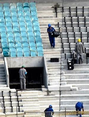 obras Arena Fonte Nova Salvador cadeiras (Foto: Rafael Brais / Portal da Copa)