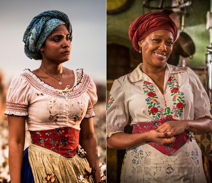 Doninha é divida por Barbara Reis e Suely Bispo (Foto: Caiuá Franco/ Globo e Inácio Moraes/ Gshow)