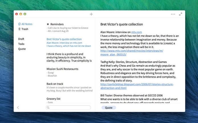 Simplenote permite salvar anotações no Mac (Foto: Divulgação)