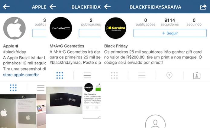 Contas falsas prometem vales generosos no Instagram (Foto: Reprodução)