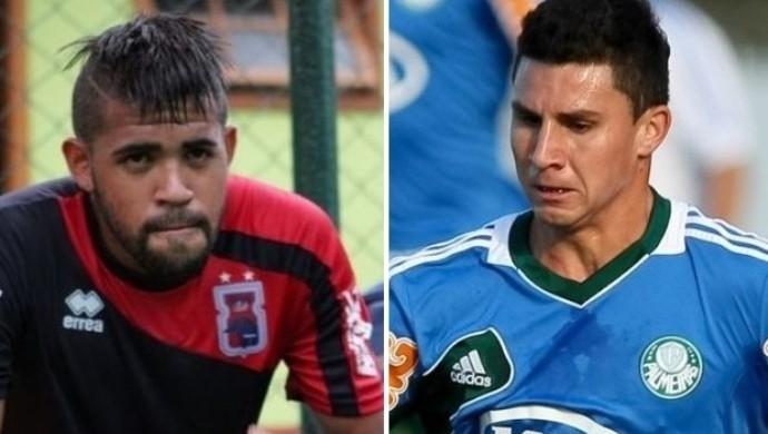 Arthur e João Denoni - Atlético-GO (Foto: Divulgação / Paraná Clube e Cesar Greco / Ag. Estado)
