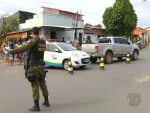 Acidente na Avenida Rui Barbosa, em Santarém (Foto: Reprodução/TV Tapajós)