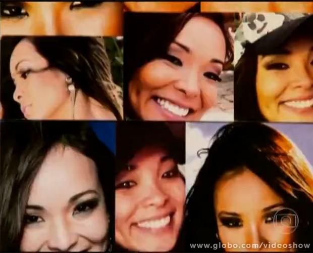 Aprenda os truques de maquiagem de Nakamura (Foto: Vídeo Show/TV Globo)