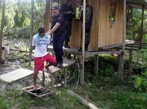 Polícia Civil e Grupamento Fluvial realizaram operação na ilha do Combu, em Belém (Foto: Divulgação/Polícia Civil)