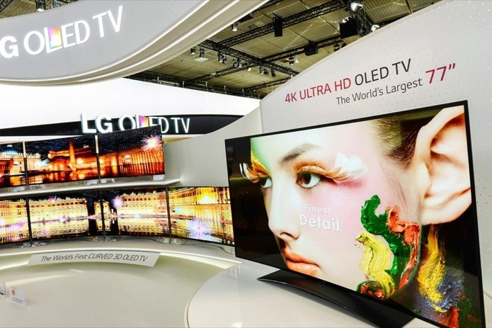 LG vai mostrar na CES 2014 TV OLED 4K de tela curva com 77 polegadas (Foto: Reprodução/Digital Trends) (Foto: LG vai mostrar na CES 2014 TV OLED 4K de tela curva com 77 polegadas (Foto: Reprodução/Digital Trends))