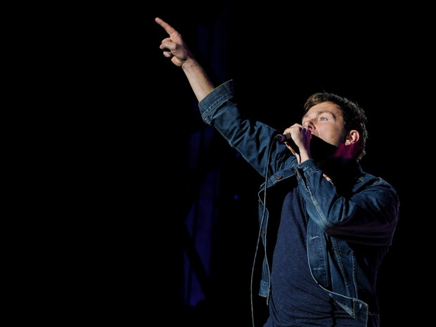 Blur agitou o público neste sábado (9) (Foto: Flavio Moraes/G1)