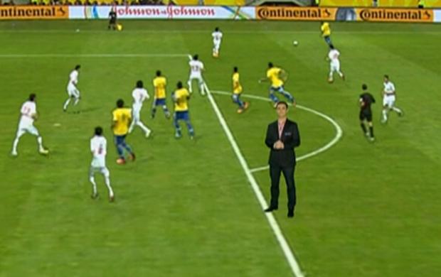 Raphael Rezende analisa gol de Paulinho (Foto: Reprodução SporTV)