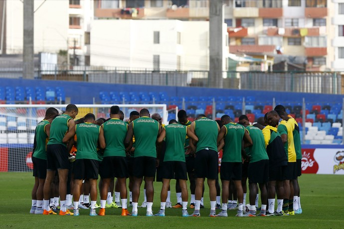 Jamaica reza concentra treino Antofagasta (Foto: EFE/Javier Valdes Larrondo)