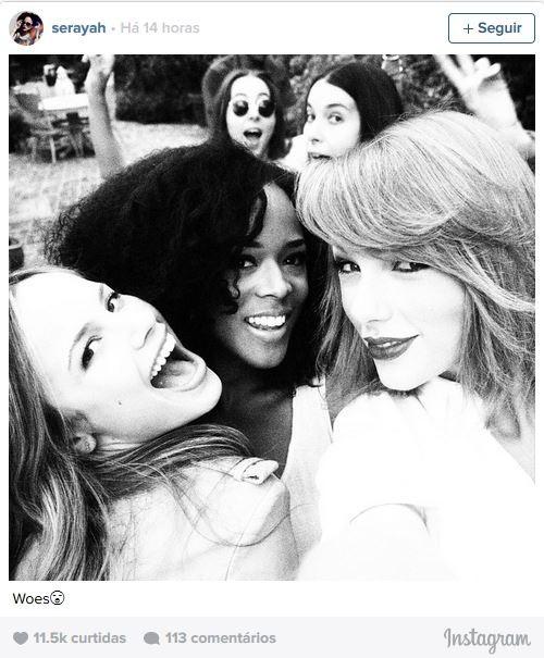 Halston Sage, Serayah, Taylor Swift, Danielle e Baby (Foto: Instagram / Reprodução)