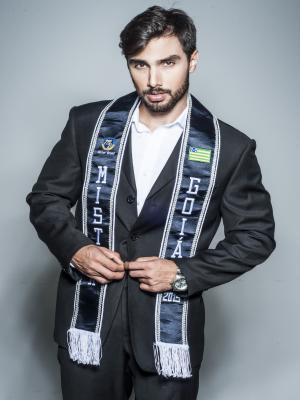 Pablo Isaac, de 21 anos, vai participar do Mister Brasil 2015 Goiás Itapuranga (Foto: Reprodução/João Valentino)
