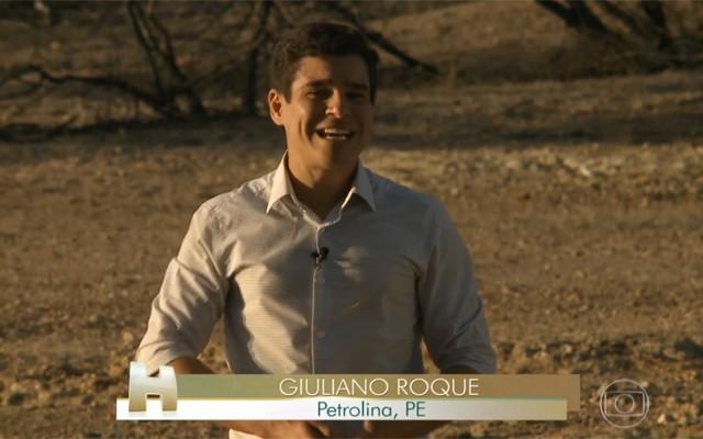 Giuliano Roque viu de perto como estão sobrevivendo várias famílias do Sertão de PE (Foto: Reprodução/TV Grande Rio)