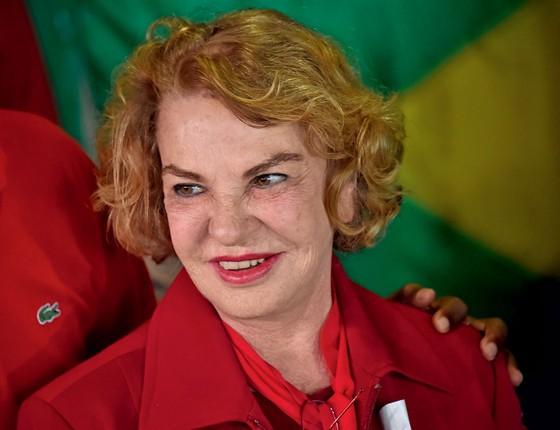 Marisa Letícia,mulher do ex-presidente Luiz Inácio Lula da Silba (Foto:  Nelson Almeida/AFP)