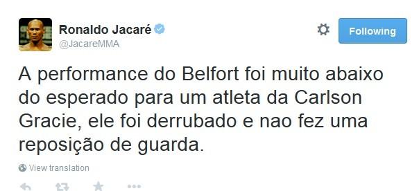 Ronaldo Jacaré Twitter Vitor Belfort
