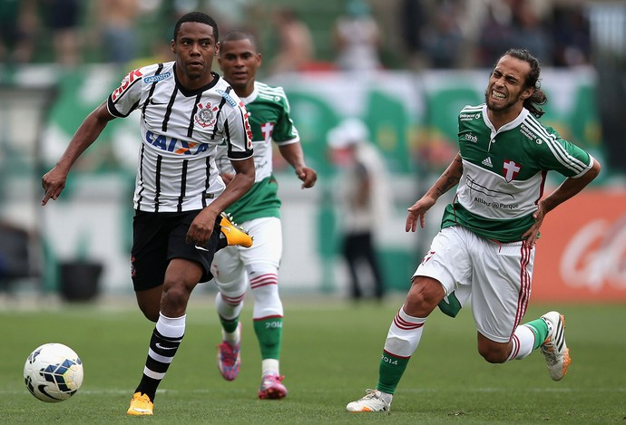 Elias Valdivia machucado, Palmeiras x Corinthians (Foto: Getty Images)
