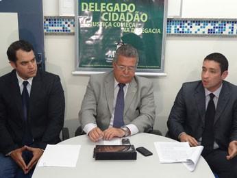 Paulo Berenguer, Guilherme Mesquita e Carlos Couto (Foto: Luna Markman / G1)