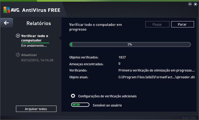 AVG pode escanear computador dos usuários em busca de vírus (Foto: Reprodução/Felipe Alencar)