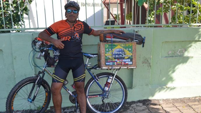 Claudio Rodrigues; aventureiro;bicicleta;roraima (Foto: Bruno Willemon)