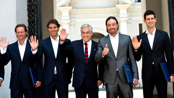 Nadal Djokovic tênis presidente do Chile (Foto: AFP)