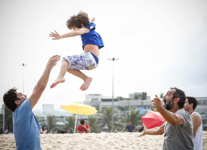 Isso que é diversão! Domingos Montagner (Foto: Raphael Dias/Gshow)