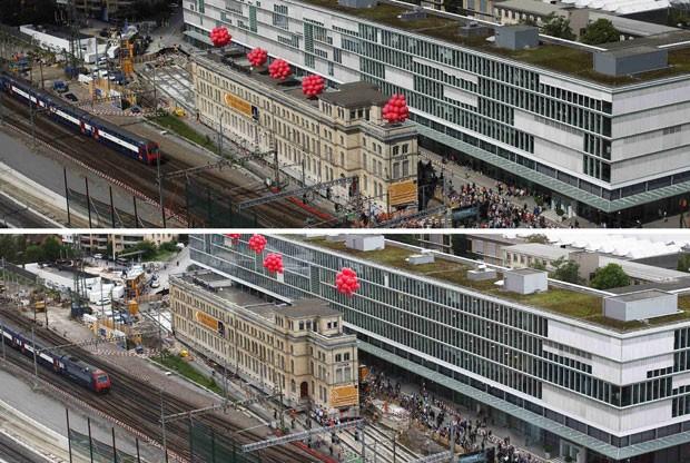 A mudança permitirá as obras para a expansão planejada pela Ferrovia Federal da Suíça. A estação Zurich Oerlikon é a 7ª maior do país, repleto em ferrovias. (Foto: Michael Buholzer/Reuters)